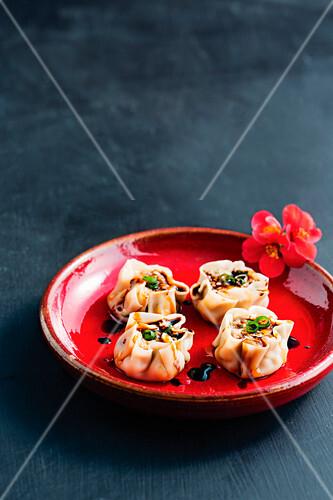 Chinese siu mai (dim sum for new year)