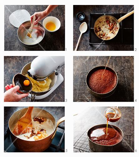 Einen Dattel-Gewürzkuchen mit Butterscotch-Sauce zubereiten