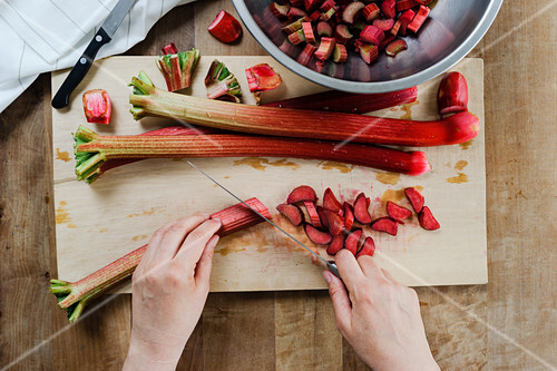 Rhubarb stalks chopped into small pieces