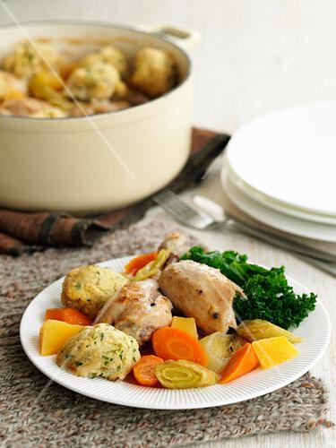 Chicken Casserole with Dumplings