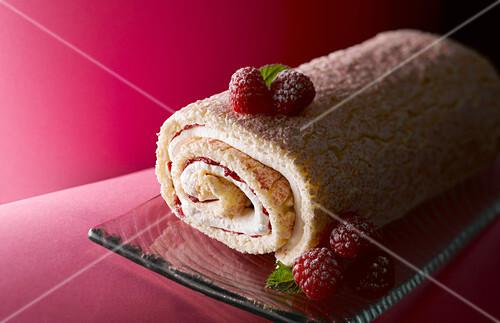 Raspberry Roulade