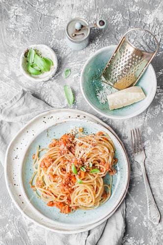 Spaghetti with ragu alla bolognese (Italy)