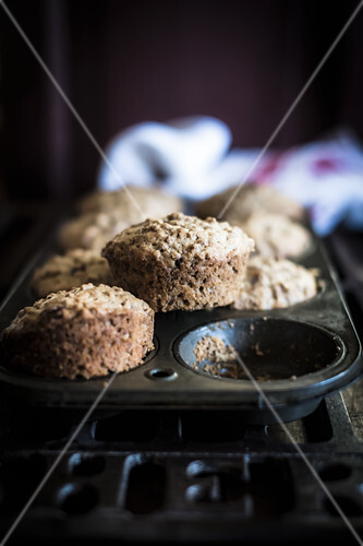 Kelloggs All Bran muffins with dried cranberries and raisins