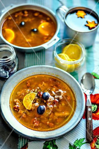 Soup solyanka (East Europe)