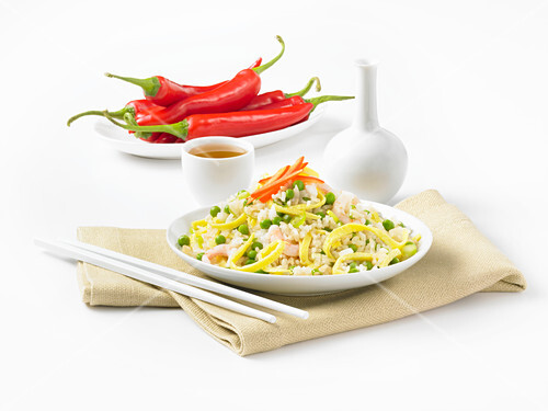 Fried rice with shrimp and egg (China)