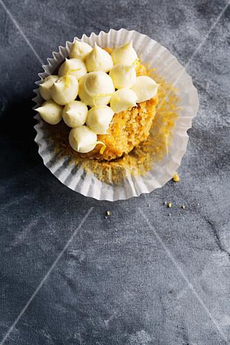 Pumpkin and walnut cupcakes