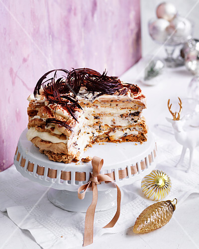Chocolate, date and brandy torte