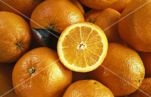 Oranges; One Cut in Half