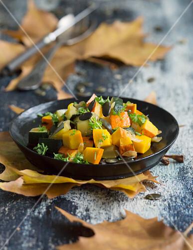 Pumpkin and zucchini vegetables