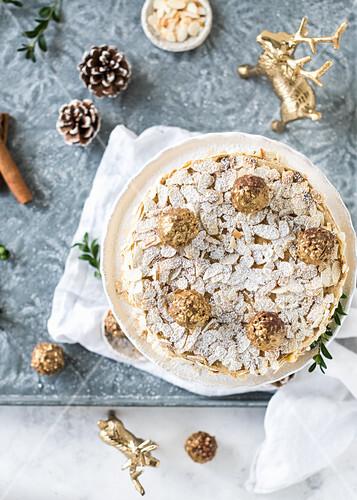 Christmas almond tart