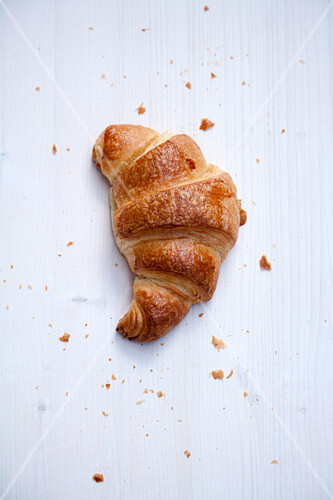 Croissant on White Cloth