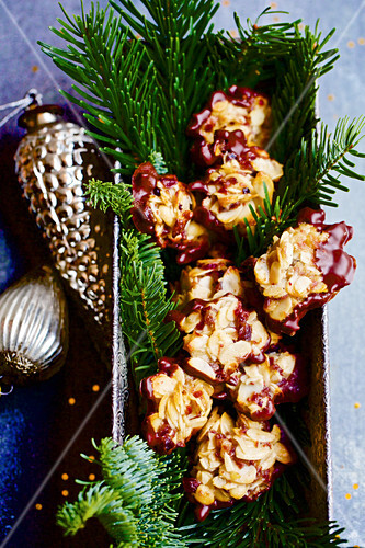 Florentines on pine sprigs