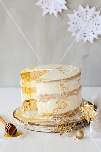 Honig-Ricotta-Torte zu Weihnachten