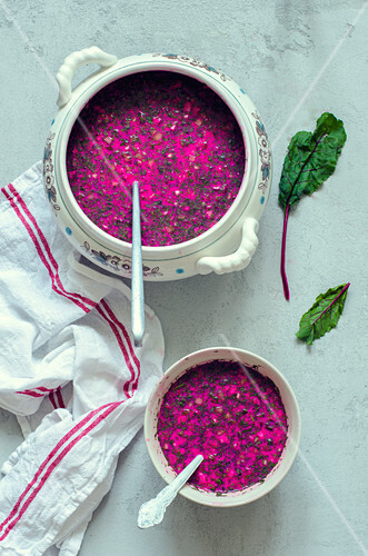 Chlodnik (cold beetroot soup, Poland)