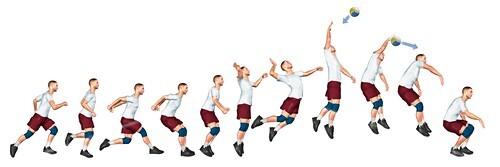 Volleyball technique, illustration