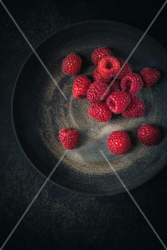 Raspberries on a plate