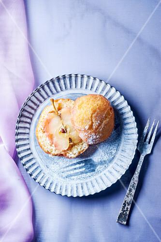 A brioche doughnut with an apple filling