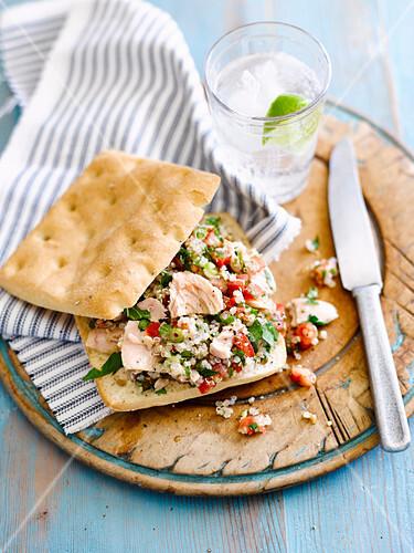Tuna and Tabbouleh Rolls