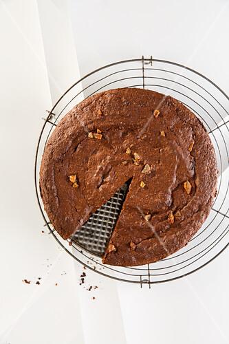 Aubergine and chocolate-orange tart