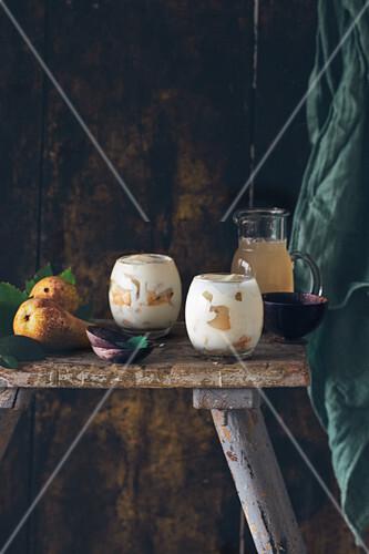Pears and mascarpone trifles