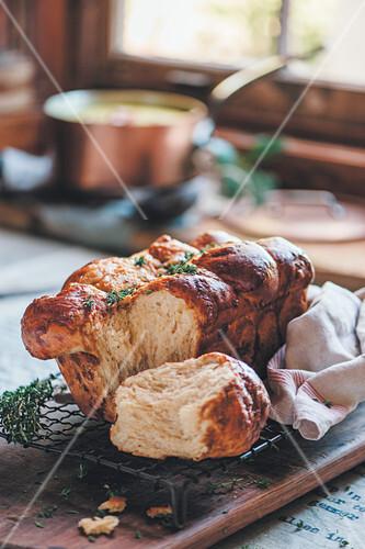 Cheddar yeast bread with Marmite
