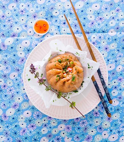 Baozi mit Sweet-Chili-Sauce