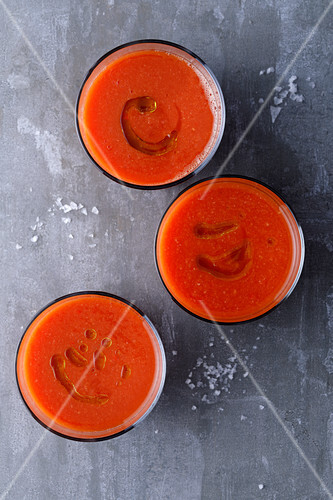 Watermelon gazpacho with olive oil