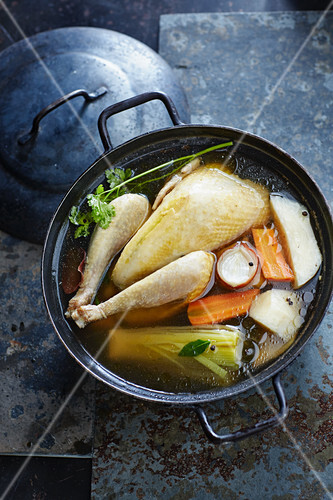 Poule au pot made with Bresse chicken