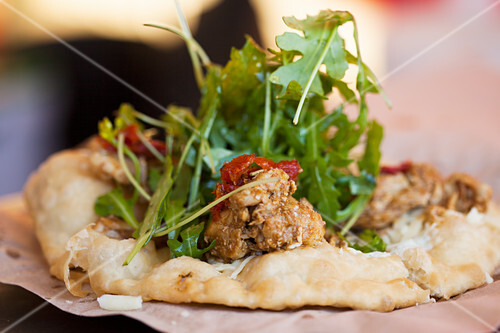 Hungarian Flat Bread with Chicken