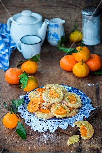 Tangerine cookies