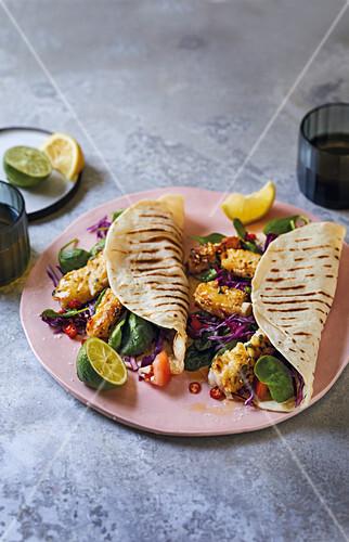 Pikante Fisch-Tacos