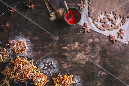 Schwedische Rosettenwaffeln mit Zimtzucker (weihnachtlich)