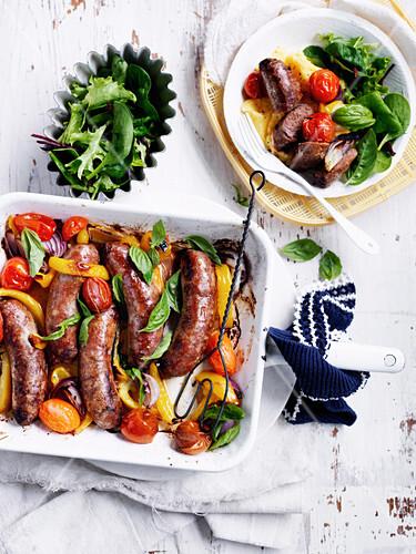 One-Pan Sausage Bake
