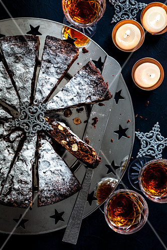 Panforte di Siena (traditional fruit cake from Siena, Italy)