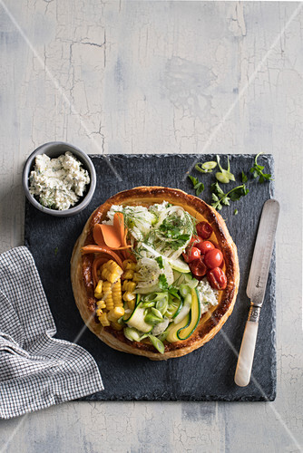 Vegetable tarte with ricotta