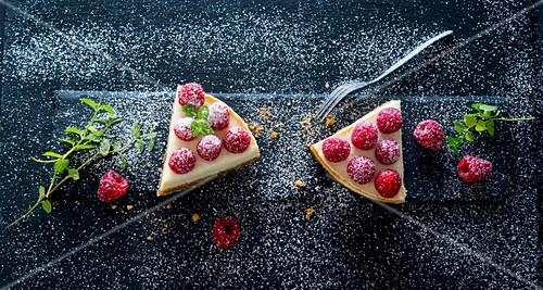 Cheesecake mit Himbeeren