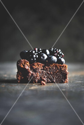 Flourless Chocolate Cake and Berries