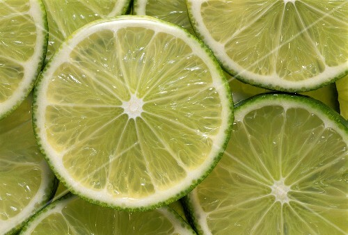 Lime Slices Close Up