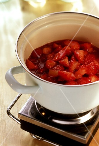Heating Strawberries and Sugar for Jam