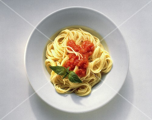 Bowl of Spaghetti with Tomato Sauce