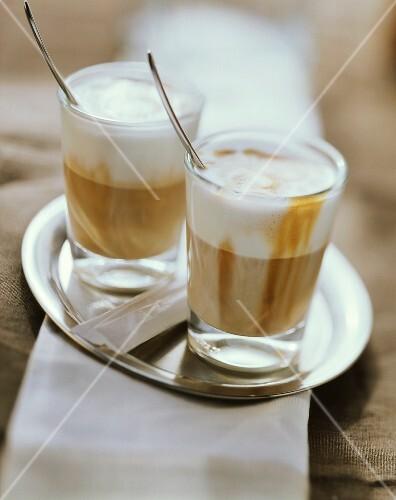 Latte Macchiato on a Tray