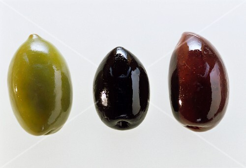 Three Different Types of Olives