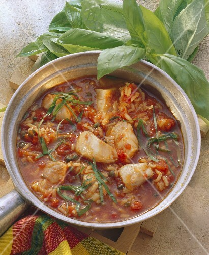 Fish ragout with rice