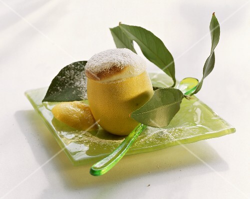 Citrus souffle in the fruit skin