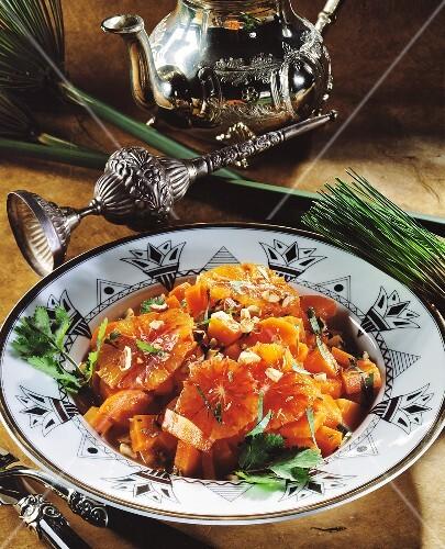 Orangen-Möhren-Salat mit Koriander aus Ägypten