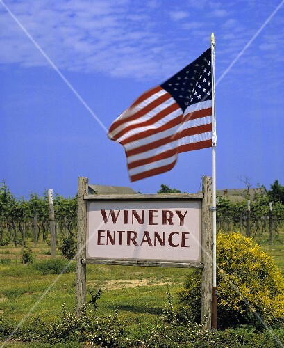 Entrance to Pindar vineyards, Long Island, New York