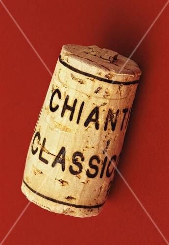 Wine corks of Italian red wine Chianti Classico
