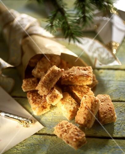 Sweet nut bars for Christmas