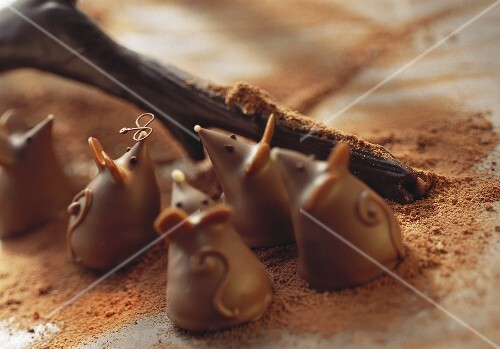 Small chocolate mice