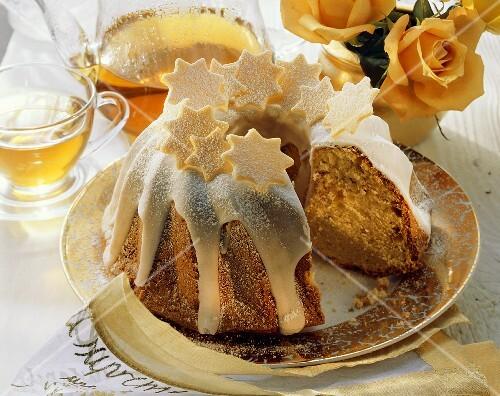 Christmas fruit cake with candied orange & lemon peel
